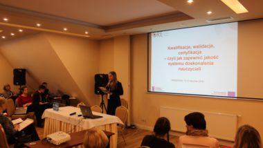 Katarzyna Leśniewska podczas spotkania