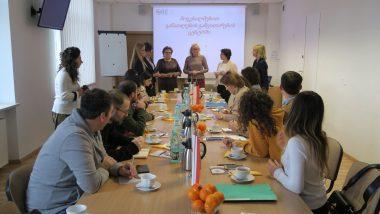 Powitanie gości przezp.o. dyrektor ORE Marzennę Habib – zdęcie całej grupy